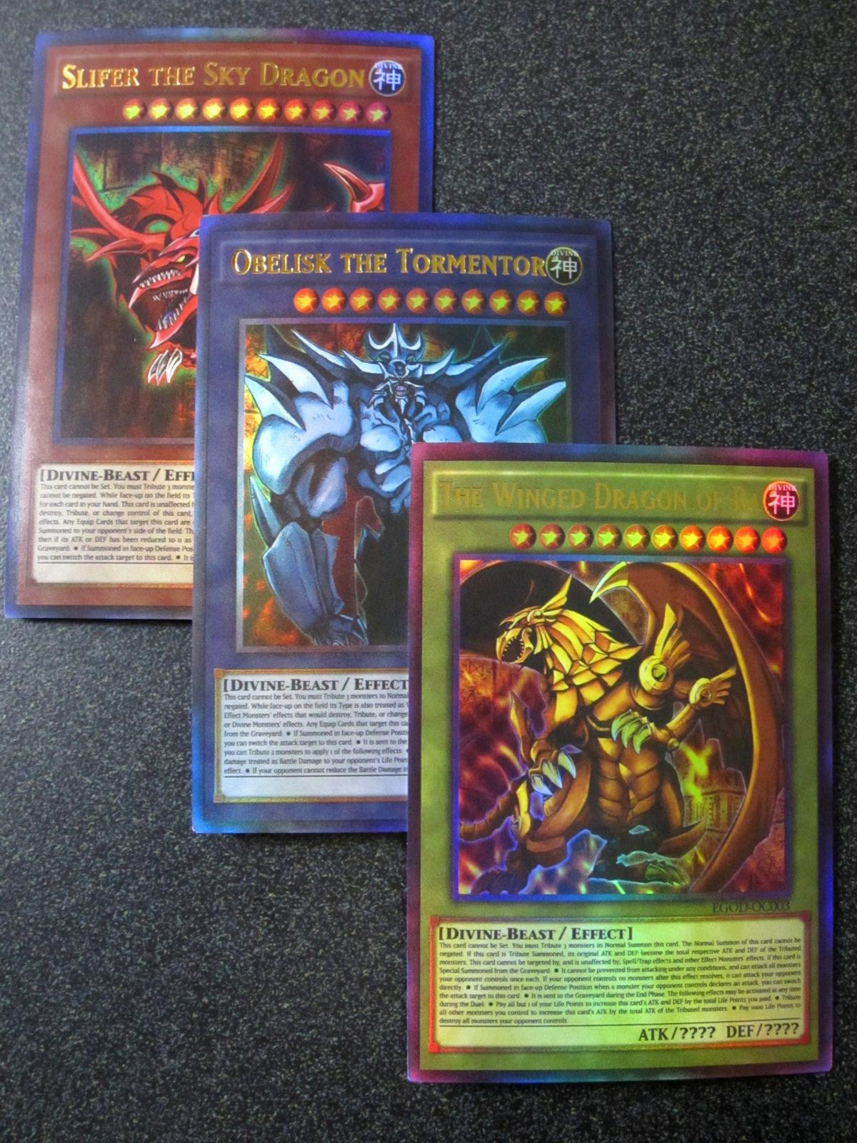 egyptian gods 3 card set anime effect oricacard com